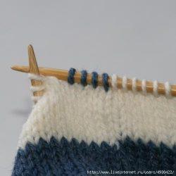 Незаметная смена цвета нити при круговом вязании (Уроки и МК по ВЯЗАНИЮ)