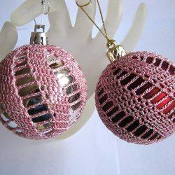 Схемы елочных шаров для вязания крючком