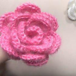 Объёмная роза крючком (Вязаные цветы)