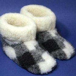 Шьем домашние сапожки из ненужных теплых вещей (Шитье и крой)