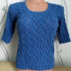 Красивый узор для пуловера. Схема (УЗОРЫ СПИЦАМИ)