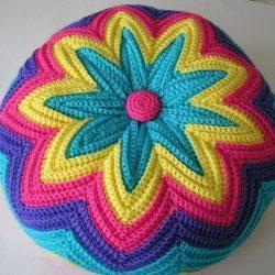 Декоративная подушка крючком. МК (Вязание крючком)