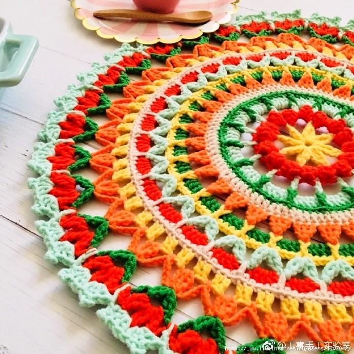 Вязание крючком коврик мандала