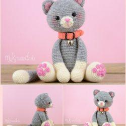 Очаровательный котик крючком. Описание вязания (Вязаные игрушки)