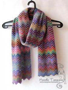 Позитивный шарф (Вязание спицами)