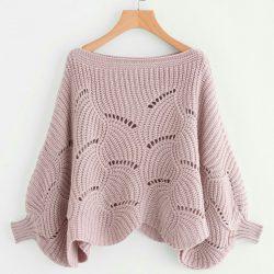 Красивый и необычный узор для пуловера. Схемы (УЗОРЫ СПИЦАМИ)