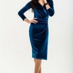 Выкройка велюрового платья с запахом (Шитье и крой)