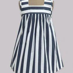 Выкройка платья с квадратной горловиной для девочки Размеры на возраст 1-12 лет (Шитье и крой)