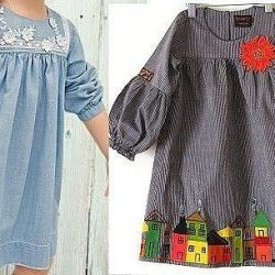Выкройка платья  с рукавом «фонарик» для девочки Размеры на возраст 1-14 лет (Шитье и крой)