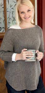 Пуловер-пончо (Вязание спицами)