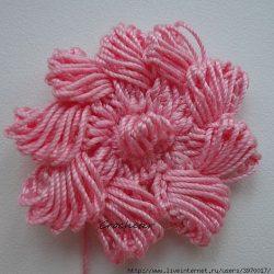Красивый цветок крючком (Вязаные цветы)