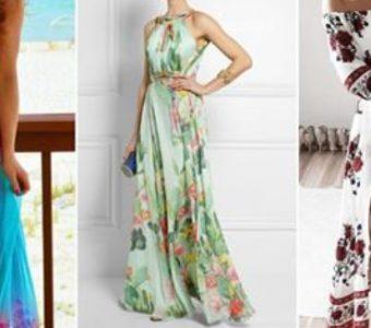 Длинные платья с принтом: 25 элегантных идей…(Шитье и крой)