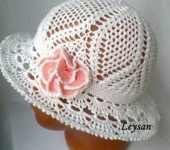 Летняя шляпка-панама (Вязание крючком)