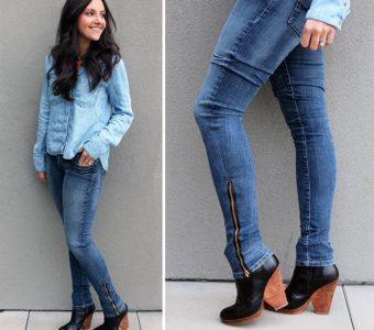 Перешиваем старые широкие джинсы в модные и стильные (Шитье и крой)