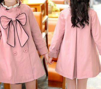 Пальто-плащ для девочки на размеры от 1 года до 14 лет. Выкройка (Шитье и крой)