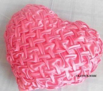 """Подушка – сердечко в технике """"буфы"""" (Шитье и крой)"""