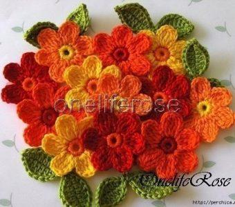 Схемы вязаных цветов крючком (Вязаные цветы)