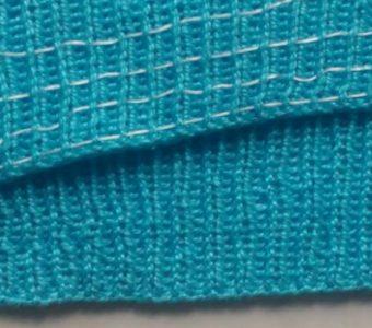Эластичная нить по изнанке готовой резинки в вязаном изделии (Уроки и МК по ВЯЗАНИЮ)