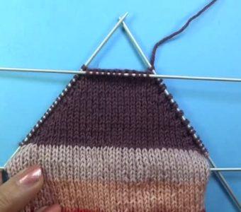 Пятка бумеранг спицами  – новый способ (Вязание спицами)