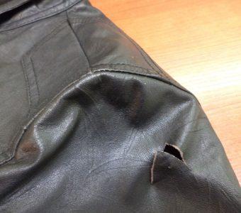 Как починить дырку на кожаной куртке (Шитье и крой)