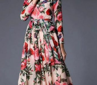 Длинные платья с принтом: 25 элегантных идей… (Мода и стиль)