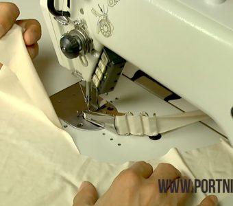 Как обработать край трикотажа на швейной машинке при помощи окантовывателя! (Шитье и крой)