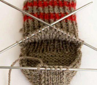 Как вязать пятку носка (Вязание спицами)