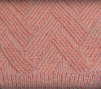 Необычный рельефный узор с эффектом переплетения (Вязание спицами)