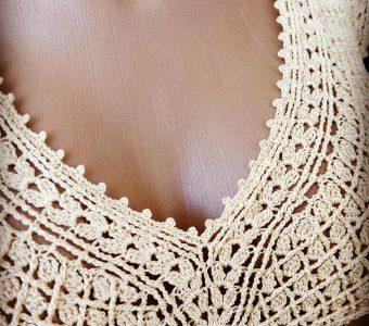 Узор для летнего сарафана от tiana_lace via (Вязание крючком)