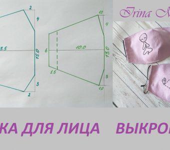 Выкройка медицинской маски для лица из ткани (Шитье и крой)