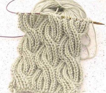 Вяжем шарфик в технике Бриошь (Вязание спицами)