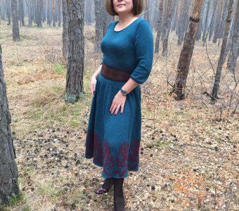 Мое новое платье связано из слонимской пряжи (ИДЕИ ДЛЯ ВДОХНОВЕНИЯ)